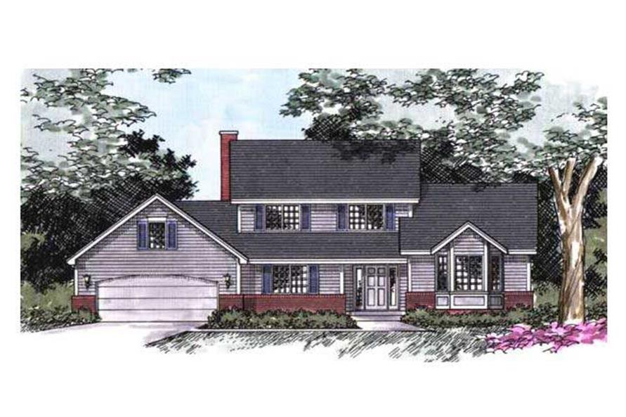 Front elevation of Country Home Plans CLS-2101.