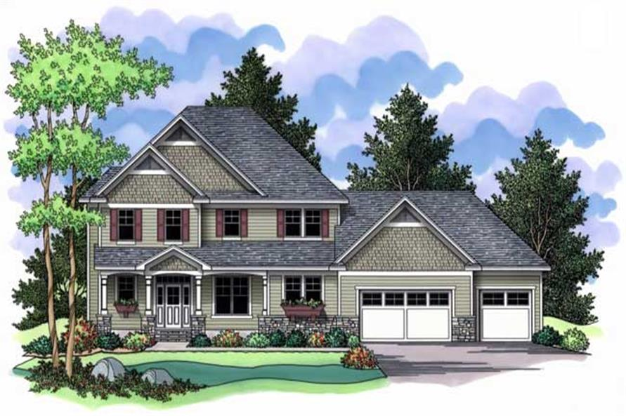 3-Bedroom, 2688 Sq Ft Country Home Plan - 165-1023 - Main Exterior