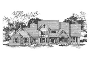 4-Bedroom, 3176 Sq Ft Cape Cod House Plan - 165-1025 - Front Exterior