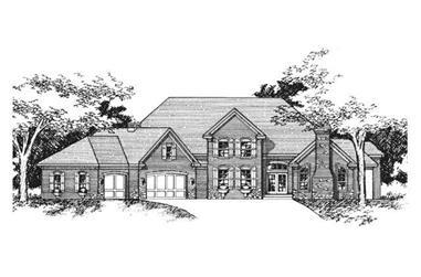 4-Bedroom, 3518 Sq Ft Cape Cod Home Plan - 165-1027 - Main Exterior