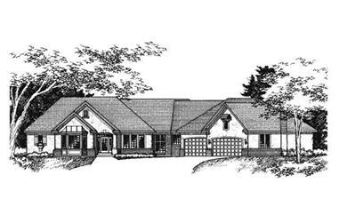 4-Bedroom, 4908 Sq Ft European Home Plan - 165-1028 - Main Exterior