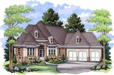 4-Bedroom, 4694 Sq Ft European House Plan - 165-1029 - Front Exterior