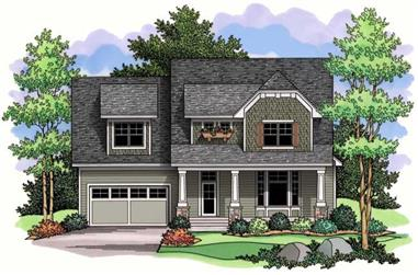 3-Bedroom, 3185 Sq Ft Country House Plan - 165-1031 - Front Exterior