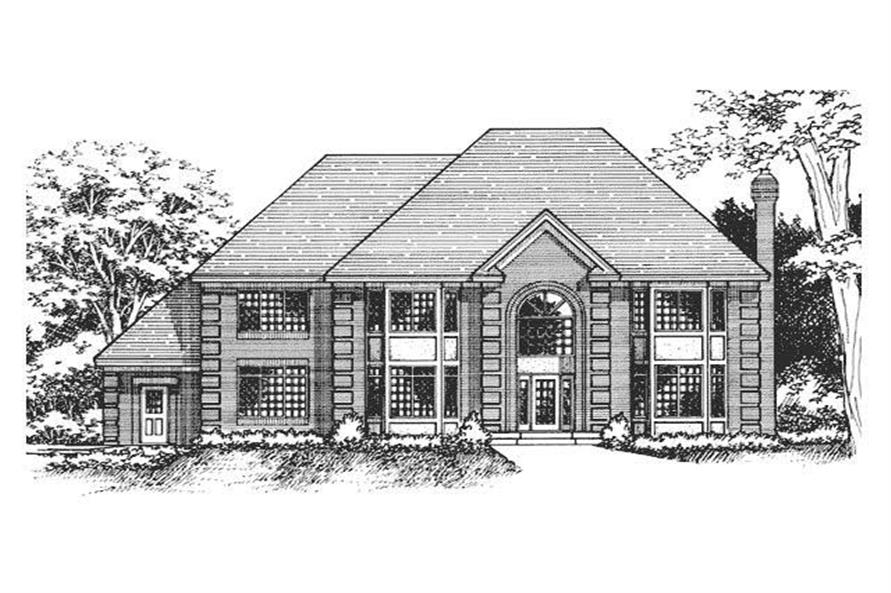 Front Elevation of European Home Plans CLS-3603.