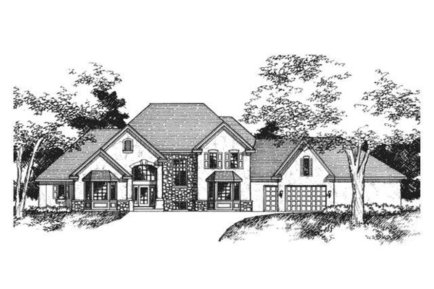 Front Elevation of European Homeplans CLS-3401.