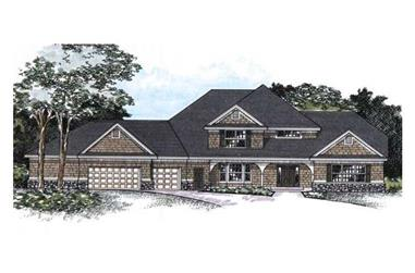 3-Bedroom, 3013 Sq Ft Cape Cod House Plan - 165-1041 - Front Exterior