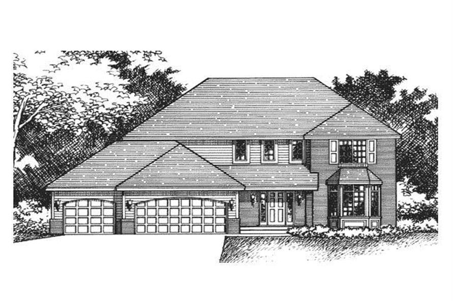 Front Elevation Rendering of European Home Plans CLS-2500.