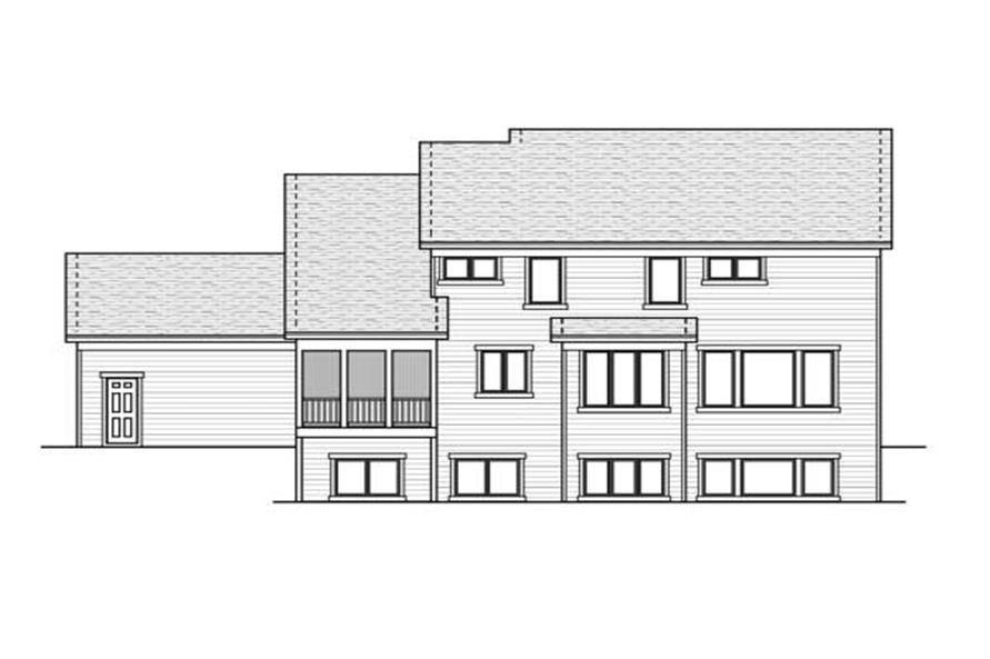 Home Plan Rear Elevation of this 4-Bedroom,2868 Sq Ft Plan -165-1046