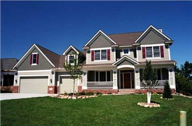 4-Bedroom, 3249 Sq Ft Country Home Plan - 165-1049 - Main Exterior