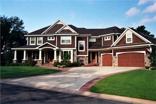 Luxury Houseplans CLS-4106 Front elevation photo.