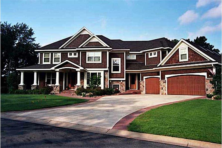 5-Bedroom, 4171 Sq Ft Country House - Plan #165-1051 - Front Exterior
