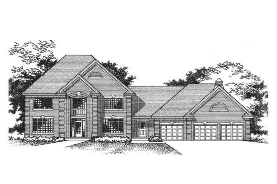 4-Bedroom, 2986 Sq Ft European House Plan - 165-1054 - Front Exterior
