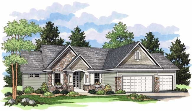 Country houseplans home design cls 3108 for Collection master cls