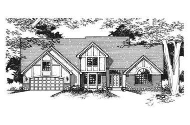 4-Bedroom, 2523 Sq Ft Cape Cod Home Plan - 165-1056 - Main Exterior
