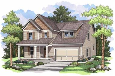 3-Bedroom, 2516 Sq Ft Country House Plan - 165-1057 - Front Exterior