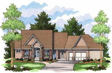 3-Bedroom, 2706 Sq Ft Country Home Plan - 165-1058 - Main Exterior