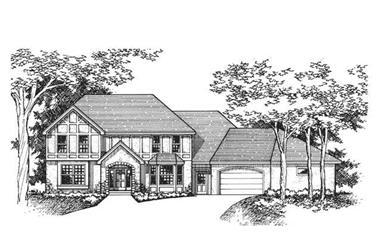 4-Bedroom, 2498 Sq Ft European Home Plan - 165-1059 - Main Exterior