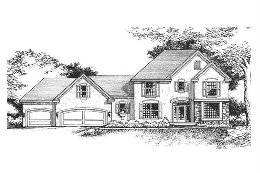 3-Bedroom, 2329 Sq Ft European House Plan - 165-1061 - Front Exterior