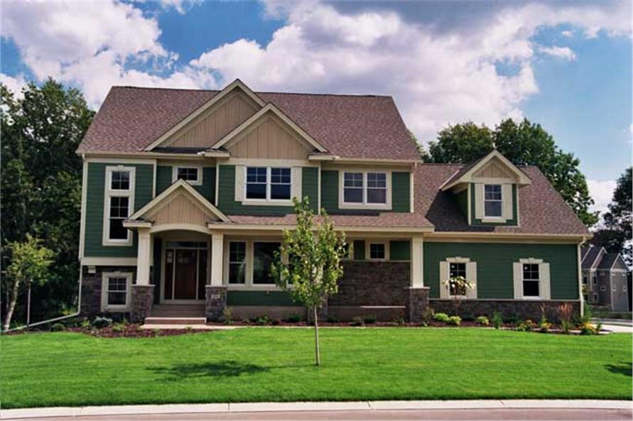 Front elevation photo for Country Homeplans CLS-3507.