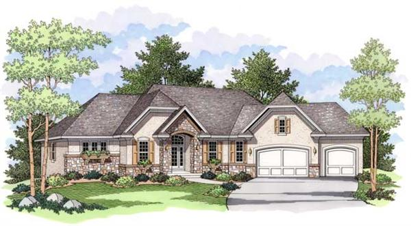 European Houseplans CLS-3405 Front Elevation.