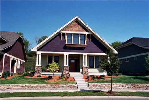 Front elevation photo for bungalow house plans CLS-1609.