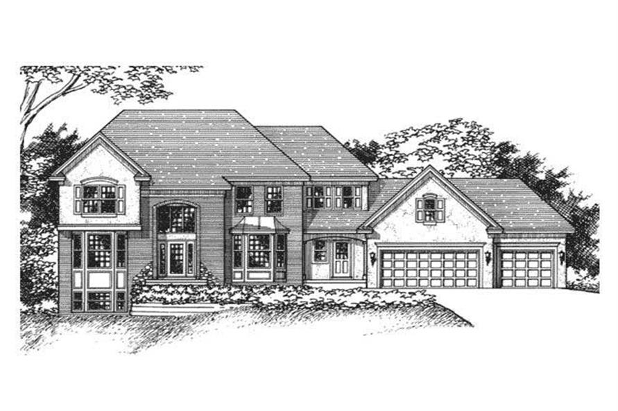 This image shows the European Style of these Houseplans.