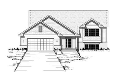 2-Bedroom, 1298 Sq Ft Country House Plan - 165-1071 - Front Exterior