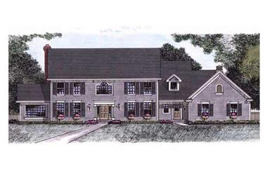 4-Bedroom, 3438 Sq Ft Colonial Home Plan - 165-1072 - Main Exterior