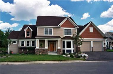 3-Bedroom, 3103 Sq Ft Colonial Home Plan - 165-1073 - Main Exterior