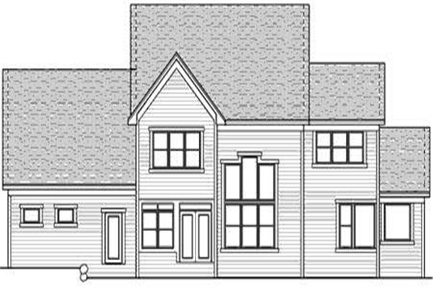 Home Plan Rear Elevation of this 3-Bedroom,3103 Sq Ft Plan -165-1073