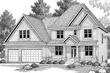 3-Bedroom, 3253 Sq Ft Country Home Plan - 165-1074 - Main Exterior