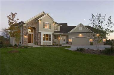 2-Bedroom, 2830 Sq Ft Country Home Plan - 165-1075 - Main Exterior