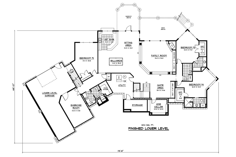Luxury home plans home design 165 1077 for 1077 marinaside crescent floor plan