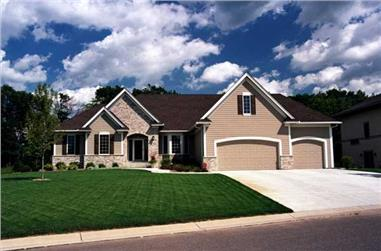 3-Bedroom, 4425 Sq Ft Country Home Plan - 165-1078 - Main Exterior