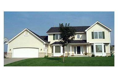 4-Bedroom, 2154 Sq Ft Country House Plan - 165-1080 - Front Exterior