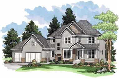 3-Bedroom, 3217 Sq Ft Country Home Plan - 165-1082 - Main Exterior