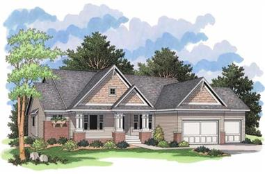 3-Bedroom, 3772 Sq Ft Country House Plan - 165-1083 - Front Exterior