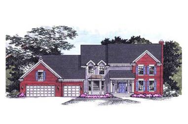 4-Bedroom, 3044 Sq Ft Country House Plan - 165-1084 - Front Exterior