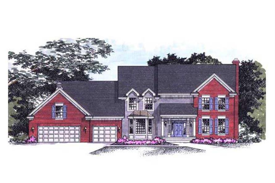 Colored Rendering of Country Houseplans CLS-3002.