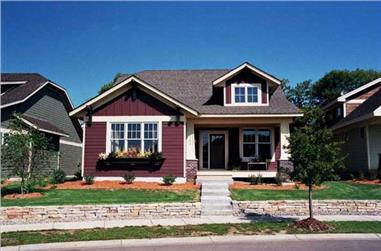 1-Bedroom, 1598 Sq Ft Bungalow Home Plan - 165-1085 - Main Exterior