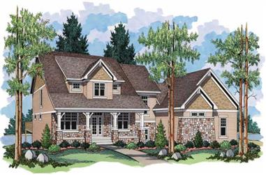 3-Bedroom, 2740 Sq Ft Country Home Plan - 165-1086 - Main Exterior