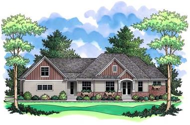 3-Bedroom, 2615 Sq Ft Country House Plan - 165-1087 - Front Exterior