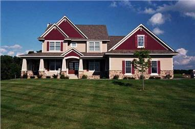 3-Bedroom, 3245 Sq Ft Country Home Plan - 165-1089 - Main Exterior