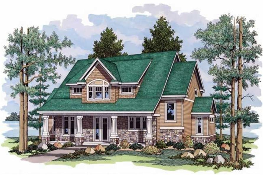 2-Bedroom, 3006 Sq Ft Ranch Home Plan - 165-1091 - Main Exterior