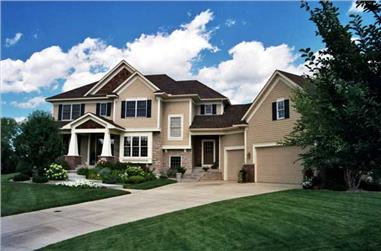 3-Bedroom, 3071 Sq Ft Country Home Plan - 165-1093 - Main Exterior