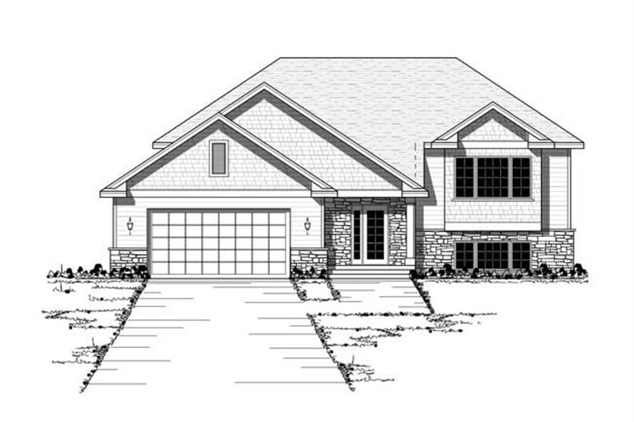 Front Elevation of European House Plans CLS-1201.