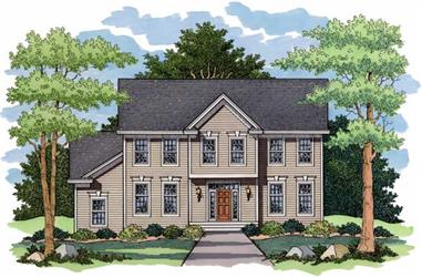 4-Bedroom, 2632 Sq Ft Colonial Home Plan - 165-1099 - Main Exterior