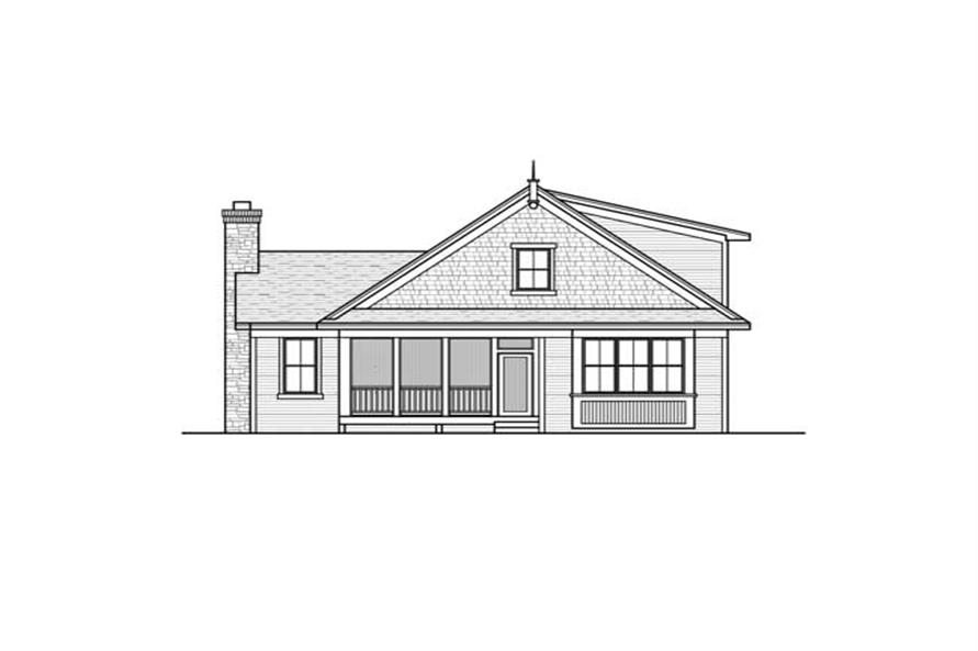 Home Plan Rear Elevation of this 3-Bedroom,1599 Sq Ft Plan -165-1102