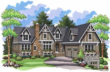 4-Bedroom, 5777 Sq Ft Country House Plan - 165-1103 - Front Exterior