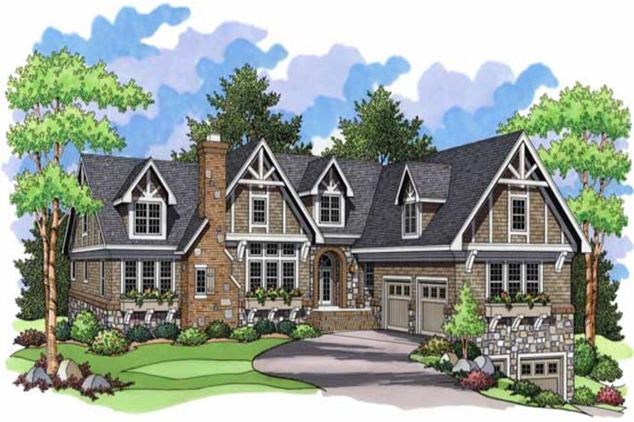 Luxury Home Plans front elevation.